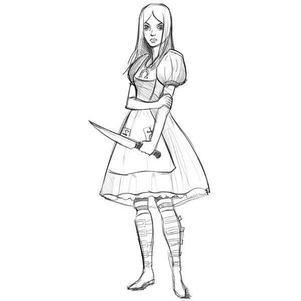 Как нарисовать Алису