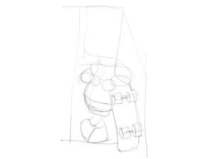 Как-нарисовать-Барта-карандашом-поэтапно-1