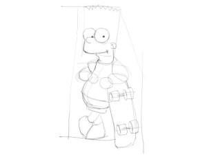 Как-нарисовать-Барта-карандашом-поэтапно-2