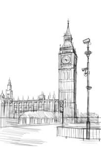 Как-нарисовать-Биг-Бен-карандашом-поэтапно-4