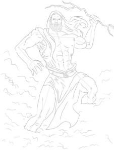 Как-нарисовать-Бога-карандашом-поэтапно-3