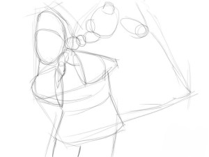 Как-нарисовать-Деда-Мороза-карандашом-поэтапно-2