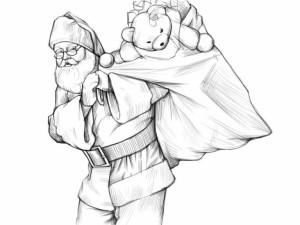 Как-нарисовать-Деда-Мороза-карандашом-поэтапно-4