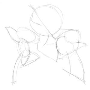Как-нарисовать-Друзья-Ангелов-карандашом-поэтапно-1