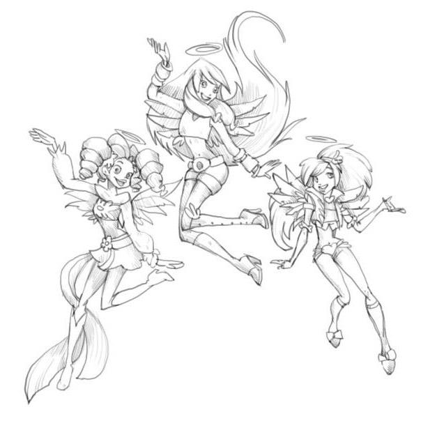 Как нарисовать Друзья Ангелов?