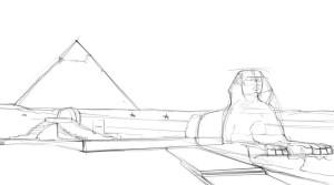 Как-нарисовать-Египет-карандашом-поэтапно-3