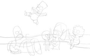 Как-нарисовать-Гомера-карандашом-поэтапно-3