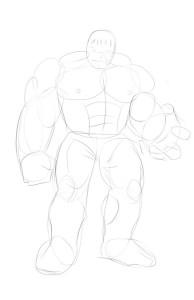 Как-нарисовать-Халка-карандашом-поэтапно-2
