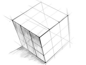Как-нарисовать-Кубик-Рубика-карандашом-поэтапно-4