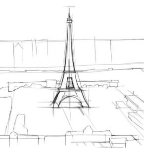 Как-нарисовать-Париж-карандашом-поэтапно-2