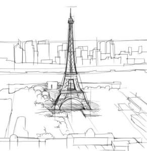 Как-нарисовать-Париж-карандашом-поэтапно-3