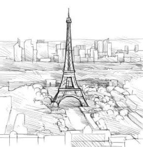 Как-нарисовать-Париж-карандашом-поэтапно-4