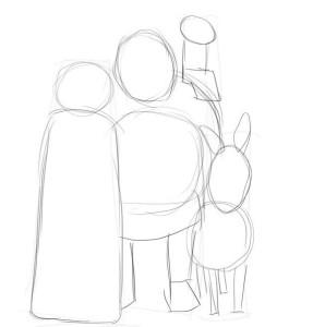 Как-нарисовать-Шрека-карандашом-поэтапно-2
