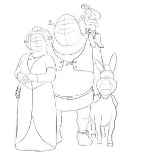 Как-нарисовать-Шрека-карандашом-поэтапно-4