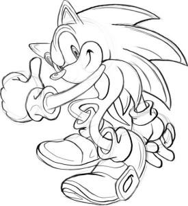 Как-нарисовать-Соника-карандашом-поэтапно-4