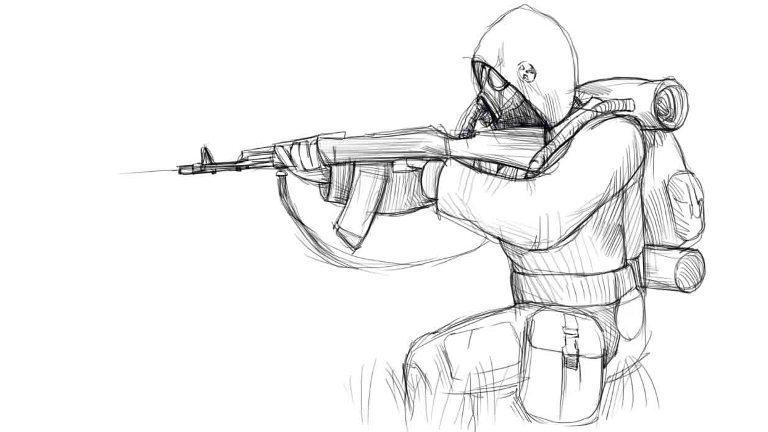 Как нарисовать сталкера