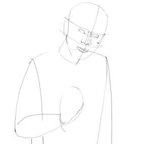 Как-нарисовать-Старика-карандашом-поэтапно-1