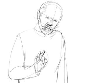 Как-нарисовать-Старика-карандашом-поэтапно-2