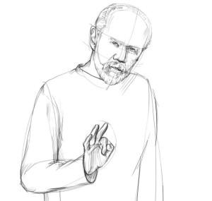 Как-нарисовать-Старика-карандашом-поэтапно-3