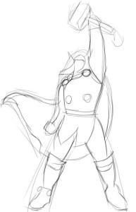 Как-нарисовать-Тора-карандашом-поэтапно-2