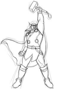 Как-нарисовать-Тора-карандашом-поэтапно-3