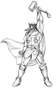 Как-нарисовать-Тора-карандашом-поэтапно-4