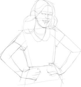 Как-нарисовать-Виолетту-карандашом-поэтапно-2
