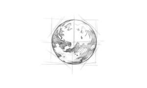 Как-нарисовать-Землю-карандашом-поэтапно-4
