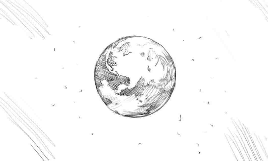 Как нарисовать Землю