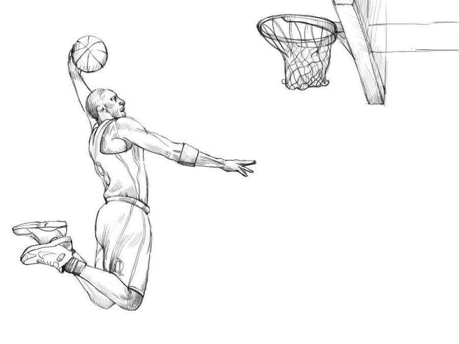 Как нарисовать баскетболиста