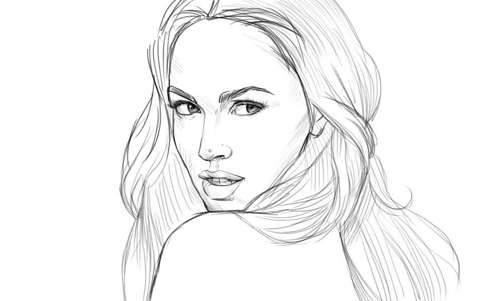 Портреты девушек поэтапно карандашом поэтапно