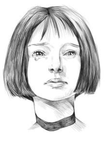 Как-нарисовать-брюнетку-карандашом-поэтапно-4