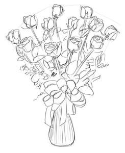 Как-нарисовать-букет-роз-карандашом-поэтапно-5