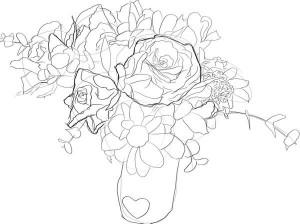 Как-нарисовать-букет-цветов-карандашом-поэтапно-4