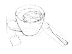 Как-нарисовать-чашку-карандашом-поэтапно-3