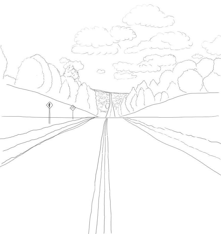 Как нарисовать дорогу?