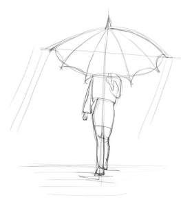 Как-нарисовать-дождь-карандашом-поэтапно-2
