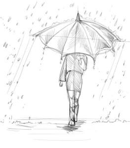Как-нарисовать-дождь-карандашом-поэтапно-3