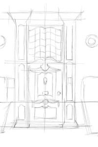 Как-нарисовать-дверь-карандашом-поэтапно-2