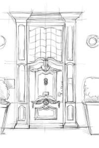Как-нарисовать-дверь-карандашом-поэтапно-3