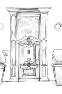 Как-нарисовать-дверь-карандашом-поэтапно-4