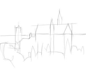 Как-нарисовать-дворец-карандашом-поэтапно-1