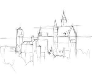 Как-нарисовать-дворец-карандашом-поэтапно-2