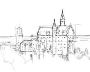 Как-нарисовать-дворец-карандашом-поэтапно-3