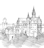 Как нарисовать дворец