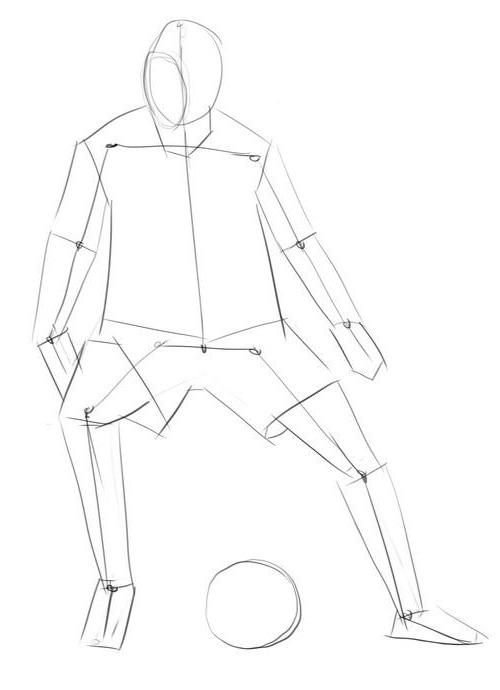 Как нарисовать футболиста Криштиану, роналду