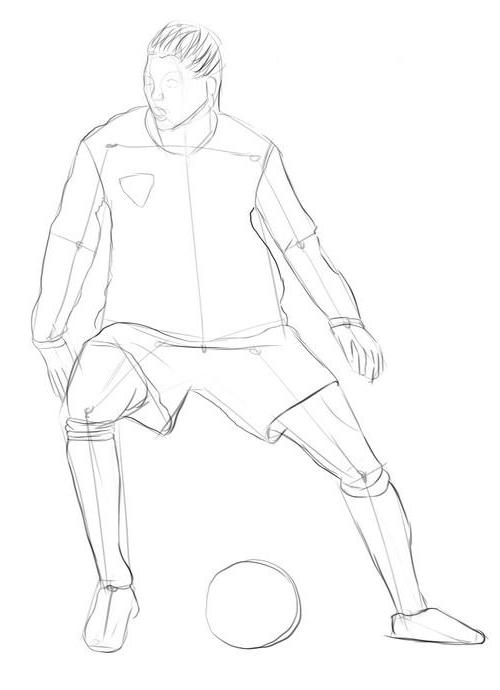 Как нарисовать месси футболиста карандашом поэтапно