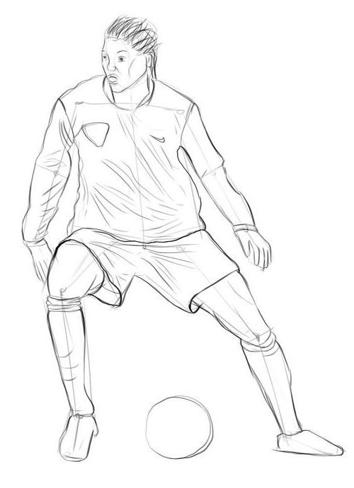 Как нарисовать футболиста?