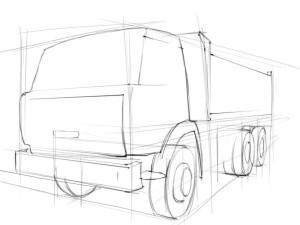 Как-нарисовать-грузовик-карандашом-поэтапно-2