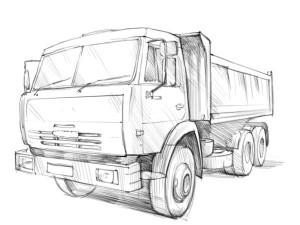 Как-нарисовать-грузовик-карандашом-поэтапно-4
